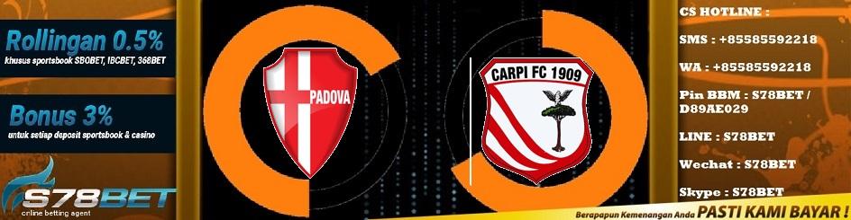 Prediksi Skor Calcio Padova vs Carpi 24 November 2018